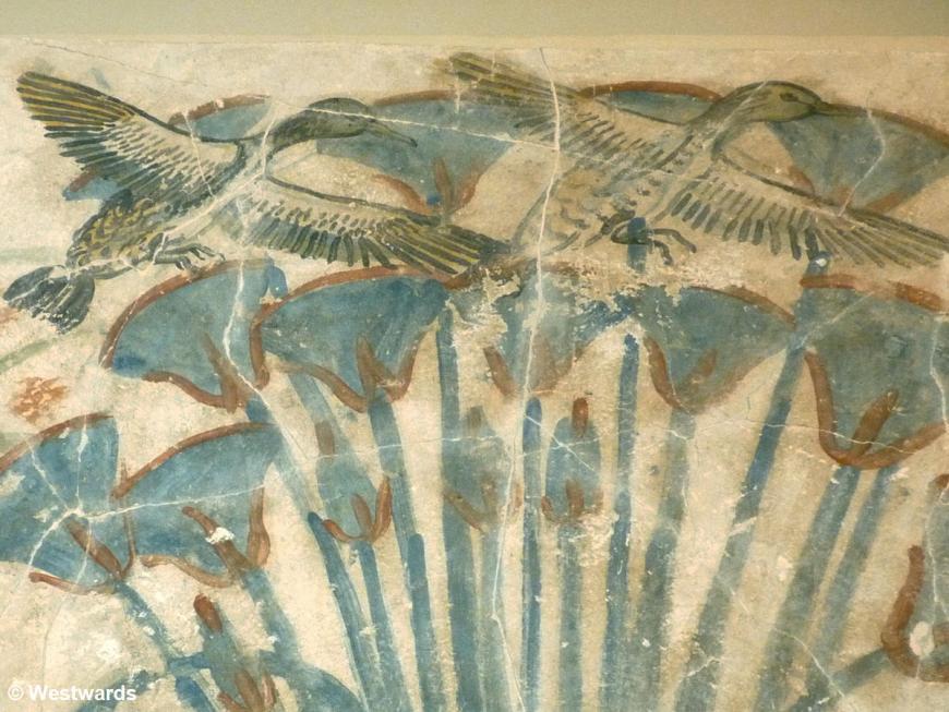 20121205 Berlin Amarna floor painting ducks P1380282