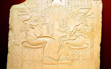 Relief of Echnation and Nefertiti