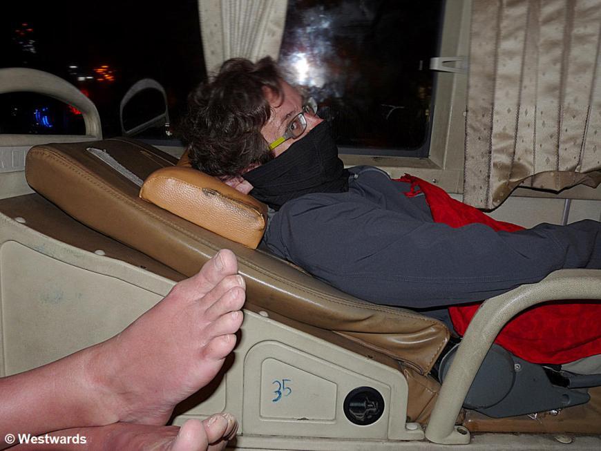 20130206 Nha Trang to Hoi An night bus cheesy feet N P1410410