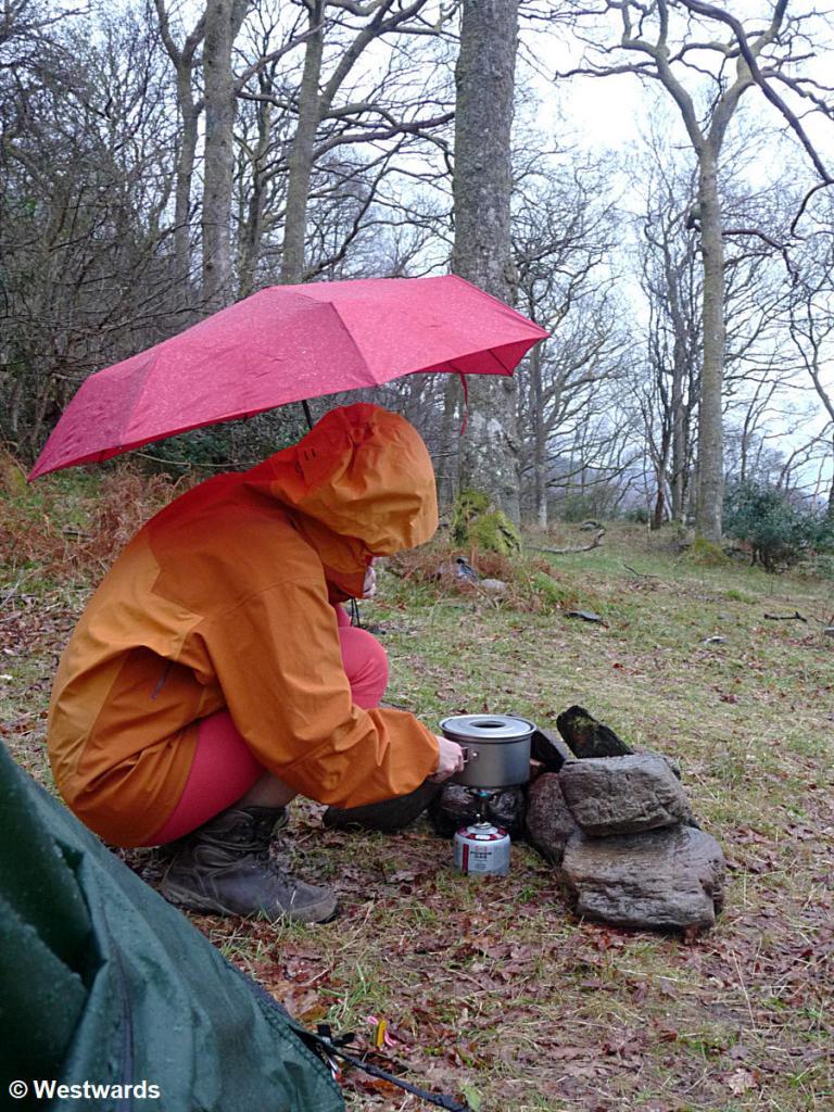 Camp am Ufer des Loch Lomond