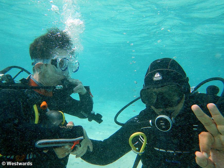 diving gestures