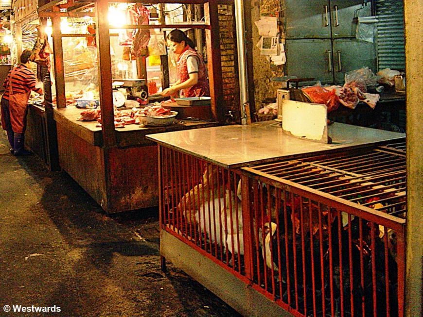 Market scene in Taipei