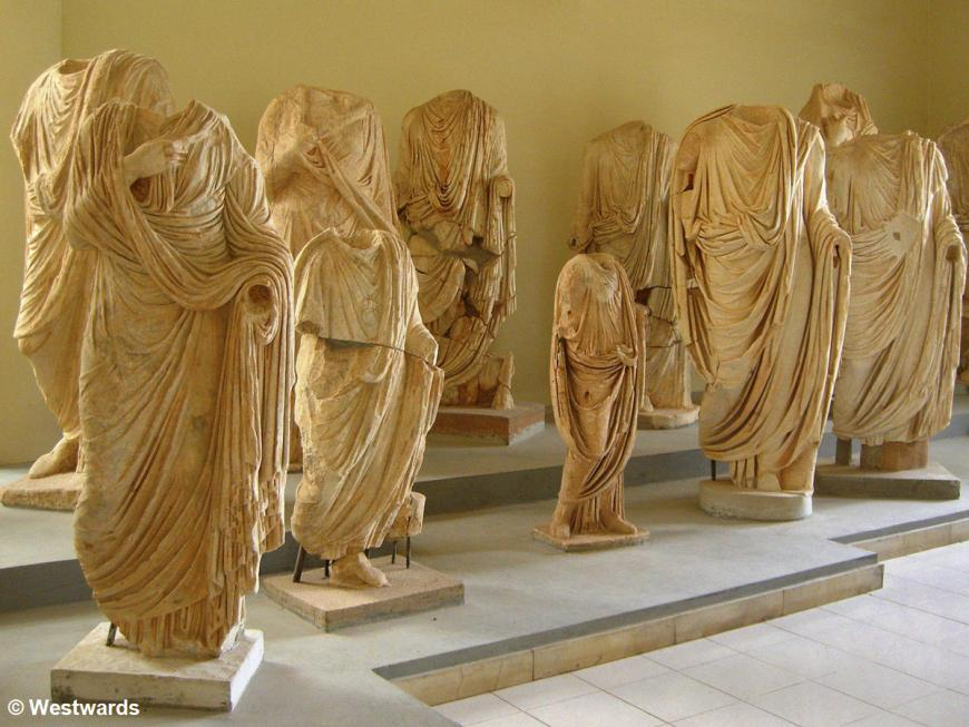 Marble statues in the Leptis Magna Museum