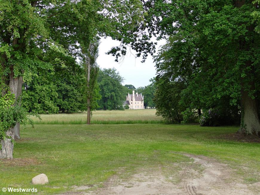 Garden of Branitz Castle in Cottbus