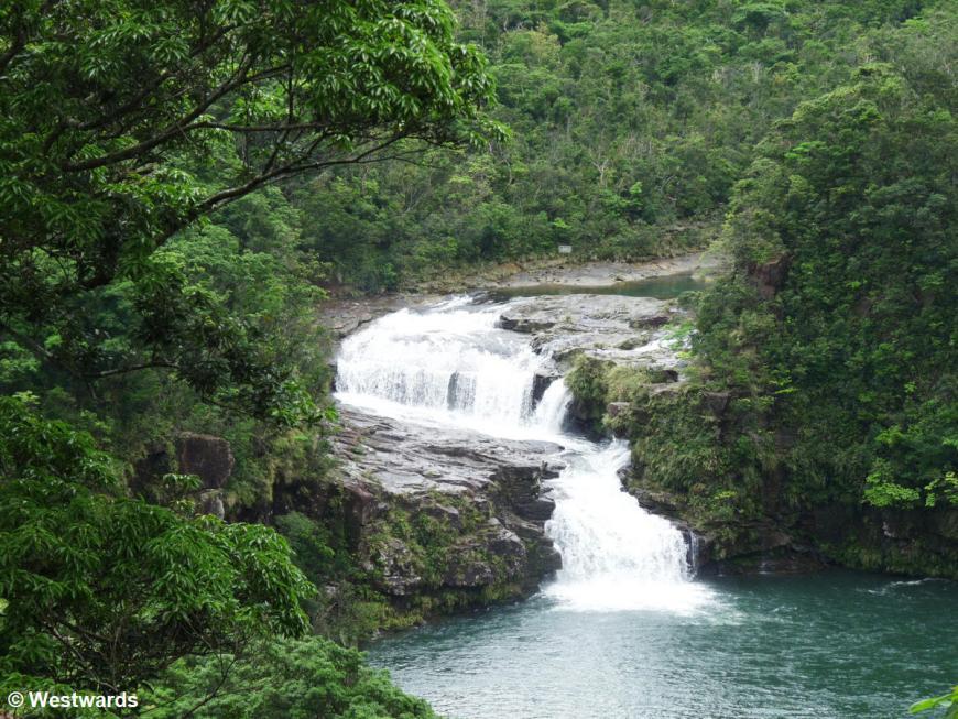 Mariudo waterfall in the jungle of Iriomote Island