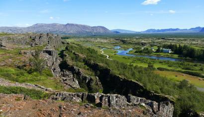 Landscape in Thingvellir National Park