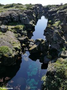 A tectonic fissure in Thingvellir
