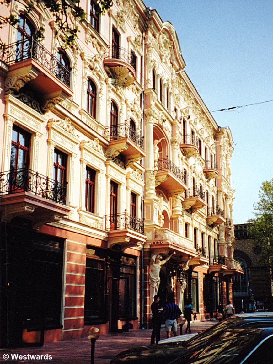 Beautiful historic buildings in Odessa