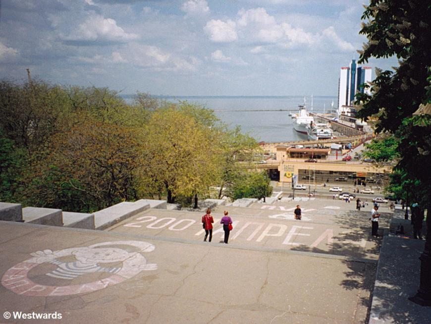 The Potemkin steps and part of the harbour