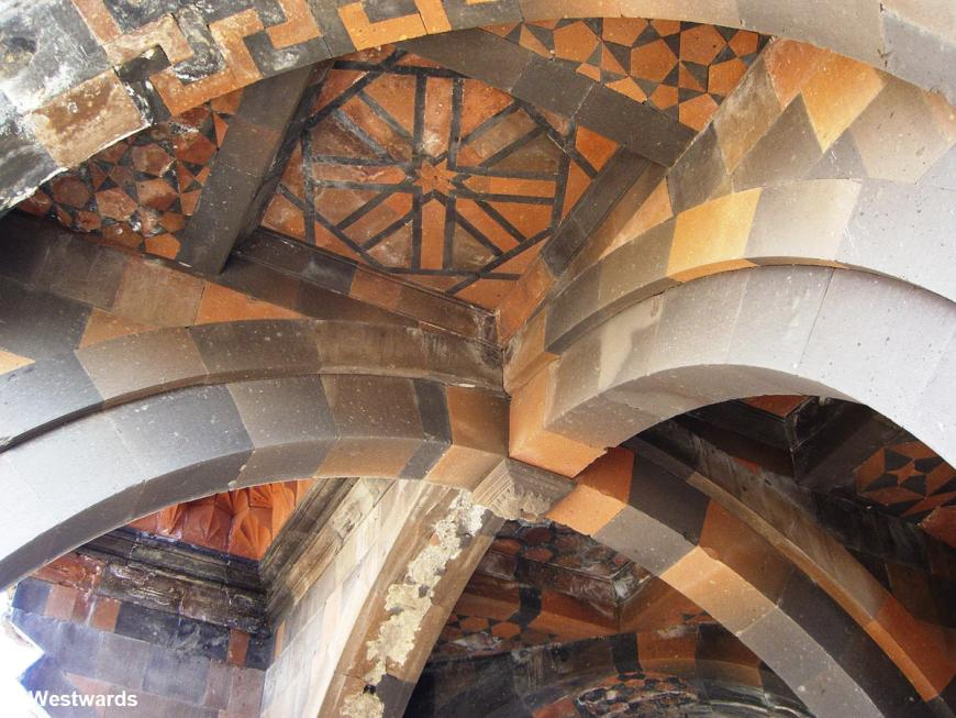 Ceiling of the caravanserai and former Church of the Holy Apostles