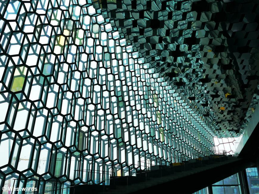 The modern architecture of Harpa concert hall was one of the highlights in Iceland