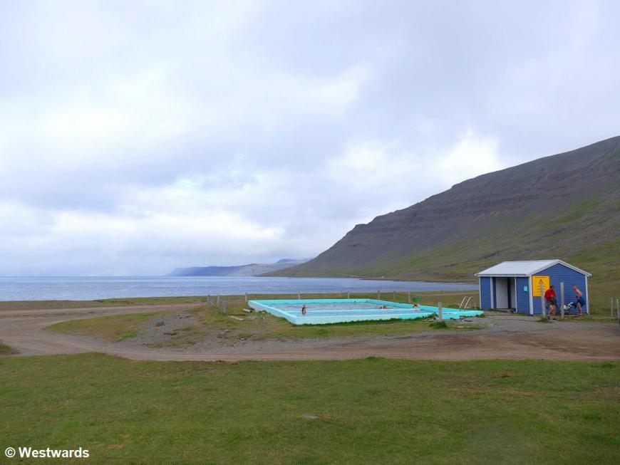 Thermal pool in Reykjarfjardarlaug