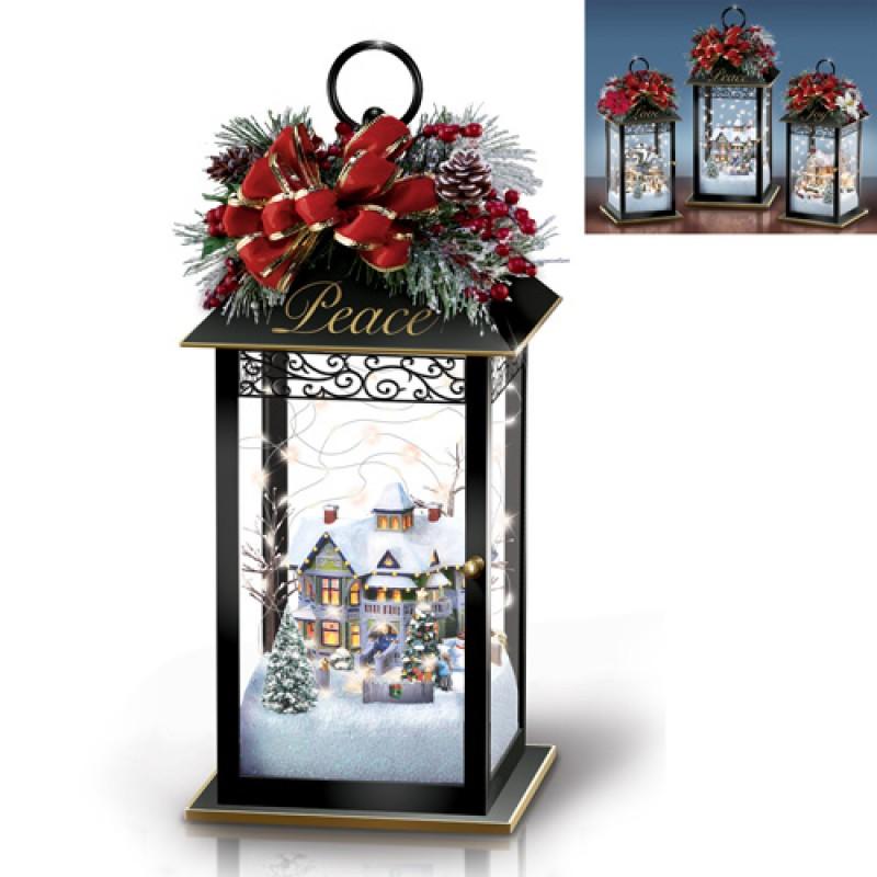 Tk Holiday Lanterns  Peace Thomas Kinkade Bradford Exchange