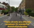 streets reclaimed
