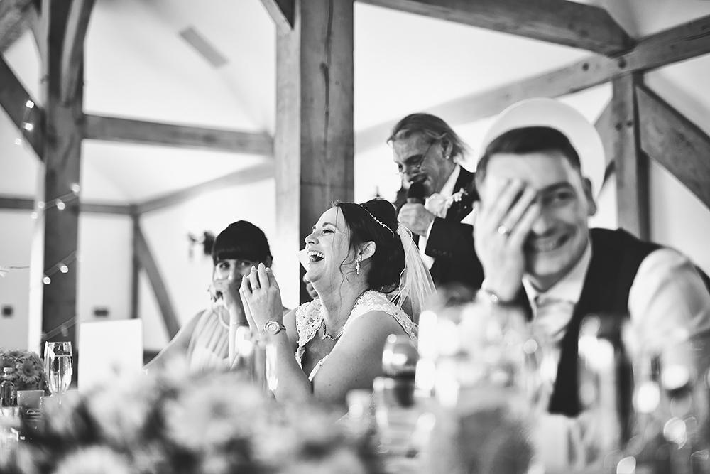 Speeches at Sandhole Oak Barn Wedding in Cheshire