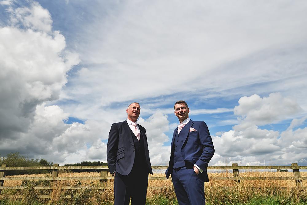 Groom & Best man - Sandhole Oak Barn Wedding in Cheshire