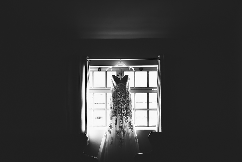 Brides dress at The Ashes