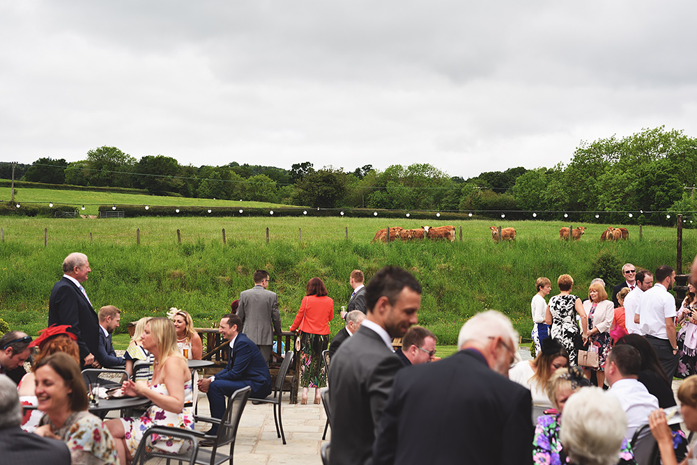 Guests arrive at Tower Hill Barns in North Wales