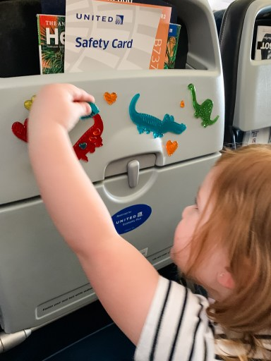 window clings for child entertainment on airplane
