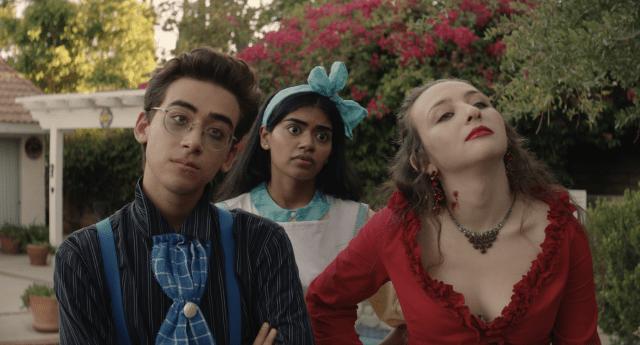 Nick Pugliese, Megan Suri and Danielle Kay in Dramarama