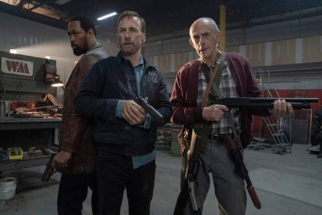 RZA, Bob Odenkirk and Christopher Lloyd in Nobody