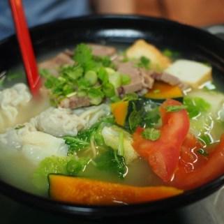 Egg Noodle in Tomato & Pumpkin Fish Broth at Tao Garden Restaurant