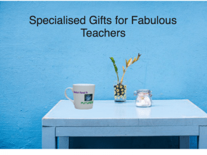 Gifts, teachers, teacher gifts