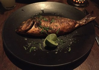 Oven baked Sea Bream