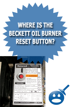 beckett oil emergency heat sequencer where is the burner reset button wet head media