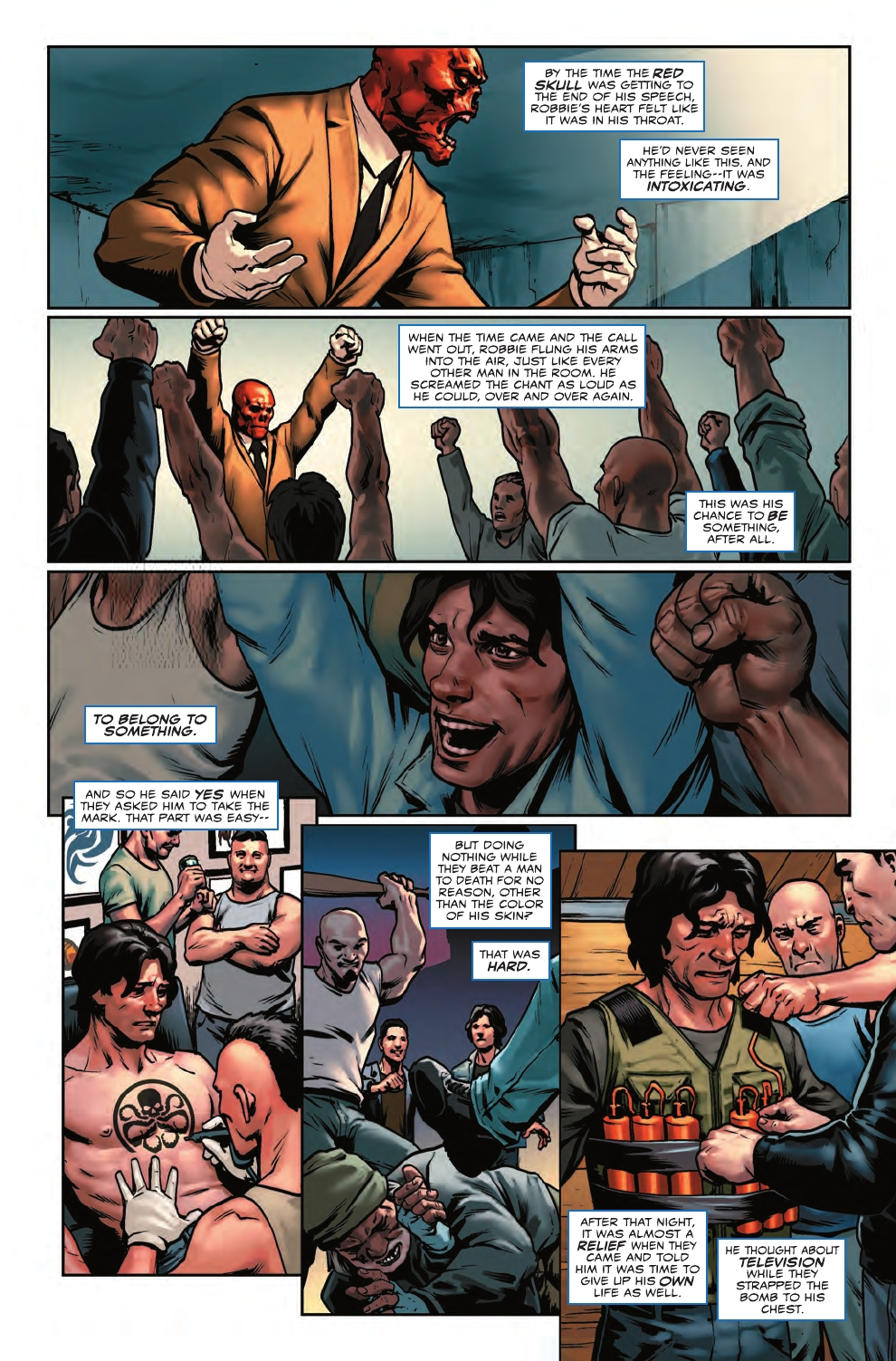 Image result for Captain America: Steve Rogers Issue 1 Robbie