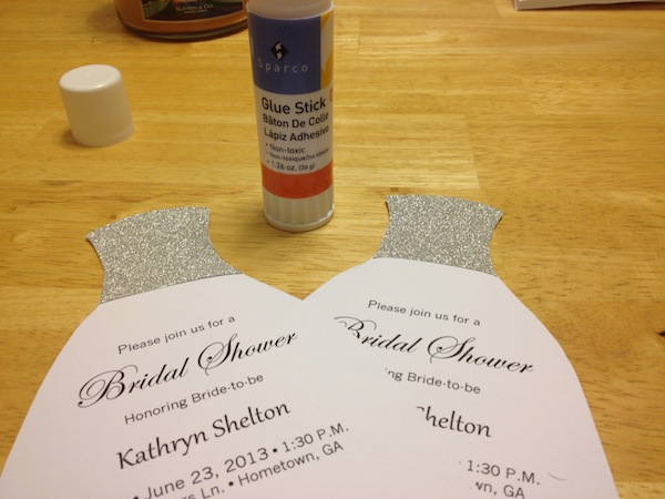 Card Making Bridal Shower Invitations