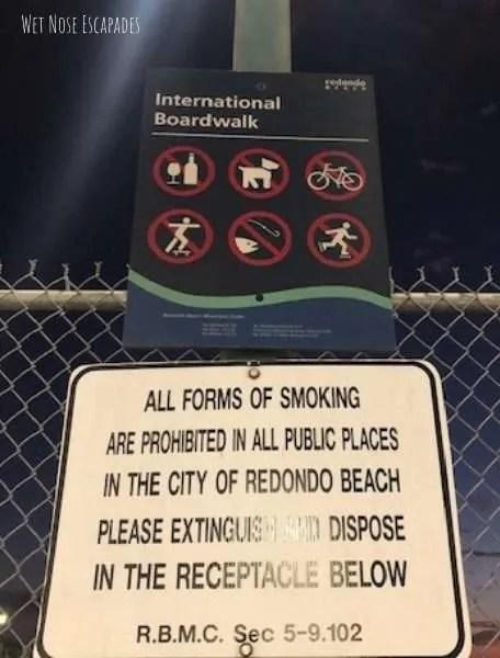 Redondo beach dog policy boardwalk