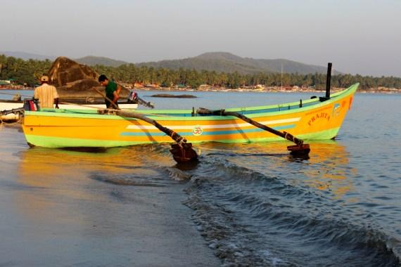 boat at palolem