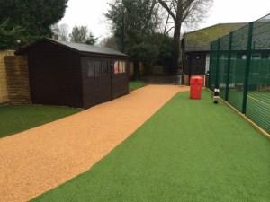 wet pour rubber pathway