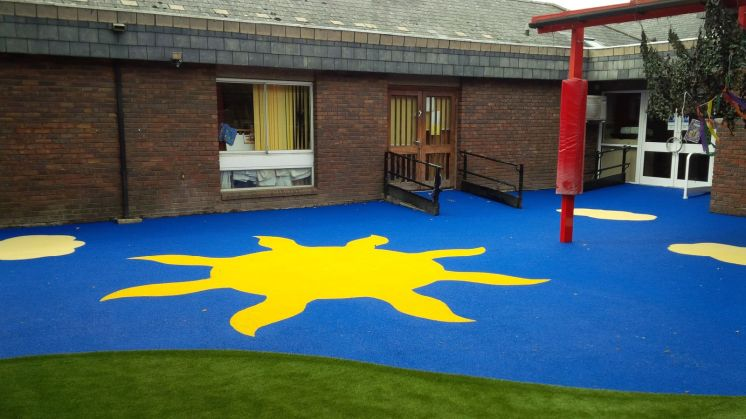 rubber surface early years foundation stage playground