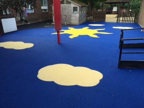 wet pour rubber children play surface