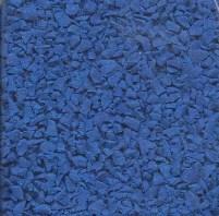 Wet pou rubber granules sample dark blue