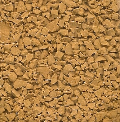 Earth yellow wet pour rubber granules