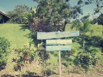 Start des Wanderwegs zum Cerro Chato