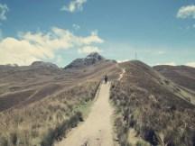5 km bis zum Vulkan