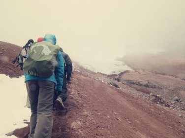 Hinauf bis zum Gletscher