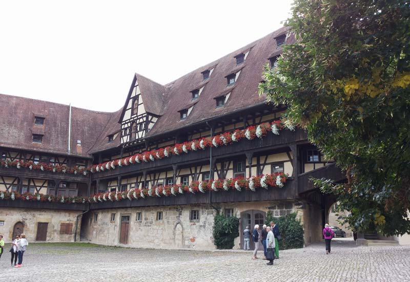 Innenhof der alten Hofhaltung in Bamberg
