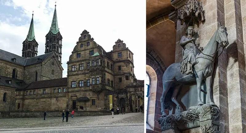 Der Bamberger Dom mit dem berühmten Bamberger Reiter
