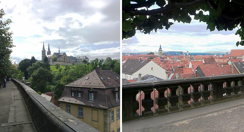 Blick zur Benediktiner Abtei Bamberg