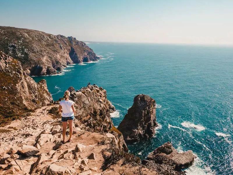 Portugal Roadtrip Cabo da Roca Klippen