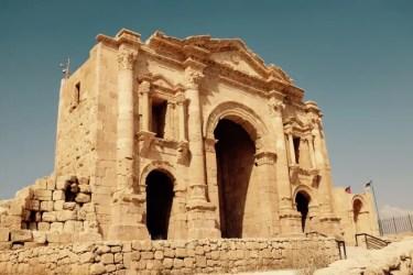 Kaiser Hadrian Triumphbogen, Gerasa, Jordanien