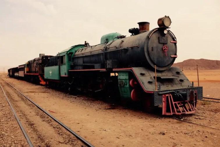 Historischer Zug, Wadi Rum, Jordanien