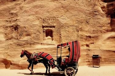 Pferdekutsche in Petra, Jordanien