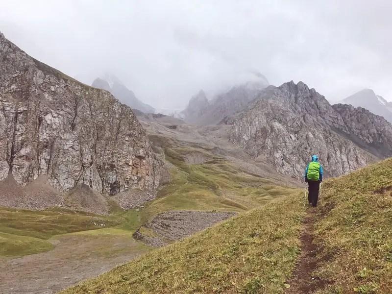 Hinauf zum Dunguromopass, Kirgistan