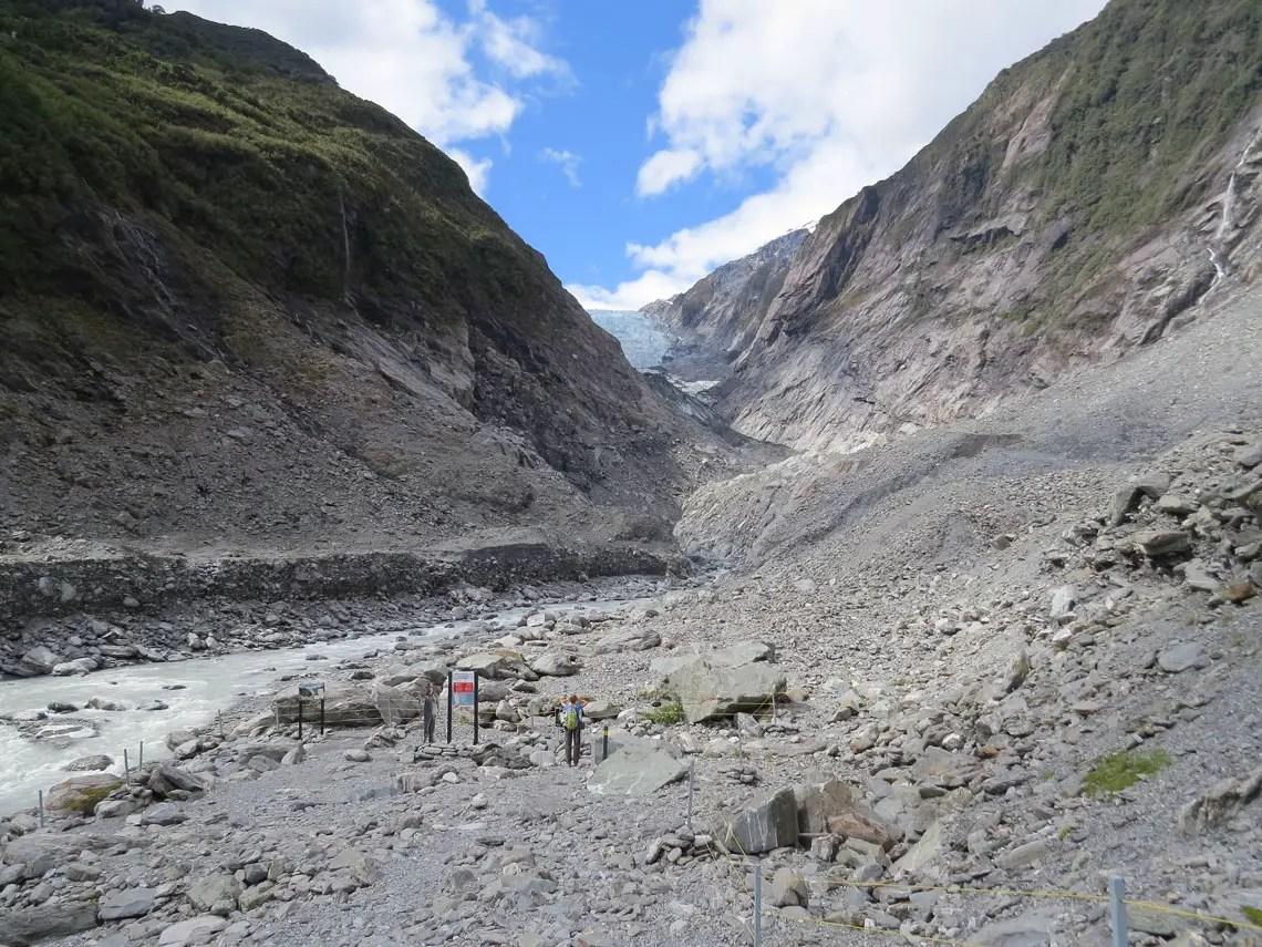 Blick zum Gletscher